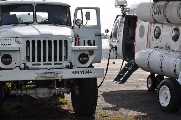Украинские вертолетчики в ДР Конго провели очередную ежеквартальную тренировку по спасению экипажей