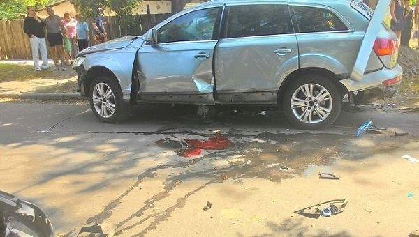 Взрыв автомобиля в Черкассах