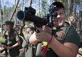 Военная подготовка детей на полигоне Нацгвардии в Киевской области