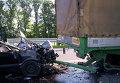 На месте ДТП в Полтавской области, в котором погибли иностранцы