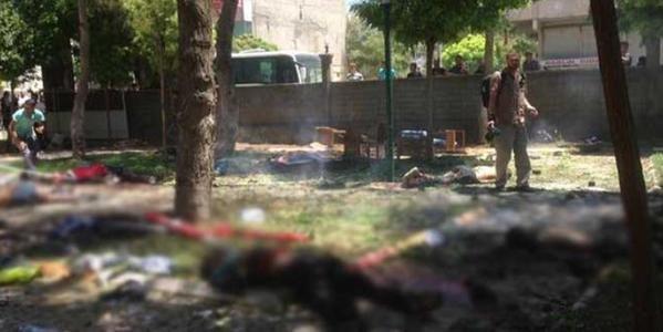 Место взрыва на границе Турции и Сирии