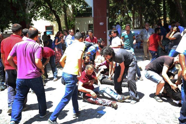 Теракт в турецком городе Суруч