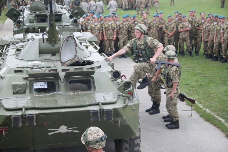 Военные учения Rapid Trident-2015 на Яворовском полигоне