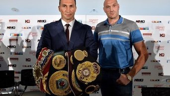 Пресс-конференция Кличко и Фьюри