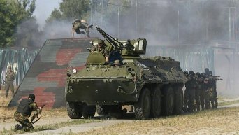 Тактические учения Нацгвардии на тренировочной базе под Киевом