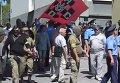 В Запорожье ПС разогнал митинг под прокуратурой. Видео