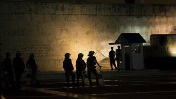 Протесты в Афинах