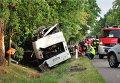 Разбившийся автобус в Польше