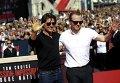 Том Круз и Саймон Пегг на премьере новой части Миссия невыполнима