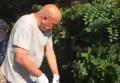 Москаль подстриг кусты под зданием милиции в Ужгороде. Видео