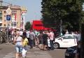 На месте задержания микроавтобуса с фальшивыми печатями в Чернигове. Видео