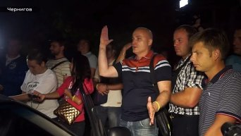 Обыск автомобиля нардепами в Чернигове. Видео