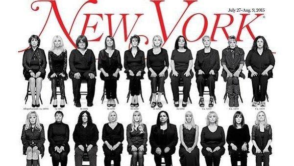 Тридцать пять девушек-обвинителей Билла Косби появятся на обложке журнала