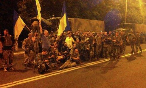 """Выход бойцов батальона """"Донбасс"""" из Широкино"""