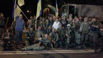 Выход бойцов батальона Донбасс из Широкино