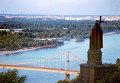 Вид из парка Владимирская горка на реку Днепр