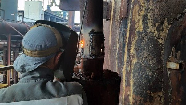 Разрушения на Авдеевском коксохимическом заводе