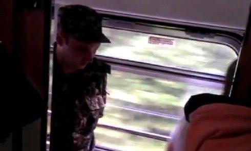 Вручение повесток в поезде Киев-Ужгород