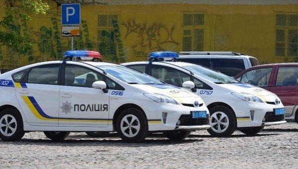 Машина патрульной полиции в Луцке