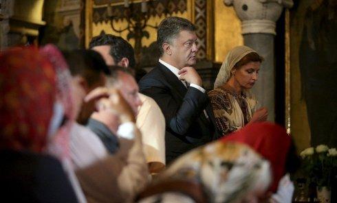 Участие президента Петра Порошенко в мероприятиях по случаю Дня крещения Киевской Руси-Украины. Архивное фото