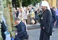Президент Украины Петр Порошенко поклонился чудотворным иконам в Киево-Печерской Лавре