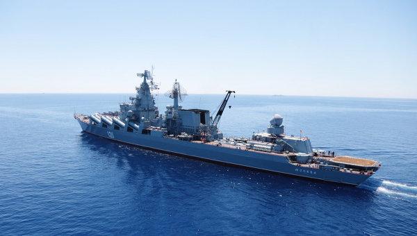 Гвардейский ракетный крейсер (ГРКР) Москва. Архивное фото