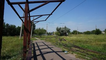 Трамвайная конечная в Краматорске