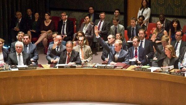 Заседание СБ ООН по трибуналу в деле по крушению Boeing 29 июля 2015 года