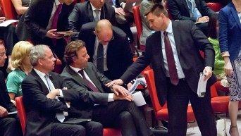 Министр иностранных дел Украины Павел Климкин и министр иностранных дел Нидерландов Берт Кундерс
