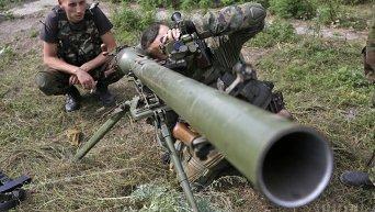 Военные в селе Зайцево Донецкой области