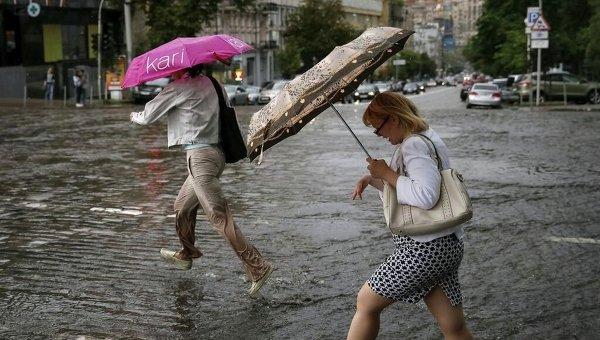 Последствия ливня в Киеве. Архивное фото