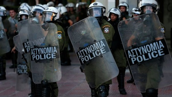 Полиция в Греции. Архивное фото
