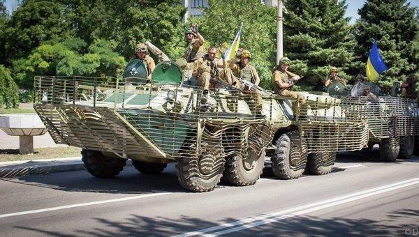 Военнослужащие в зоне АТО. Архивное фото