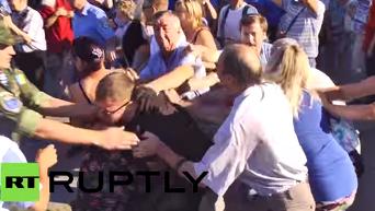 В Одессе напали на участников митинга в память о жертвах трагедии 2 мая