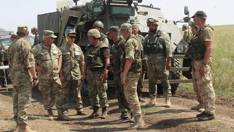 Совместная тренировка ВСУ и спецбатальона Донбасс - Украина