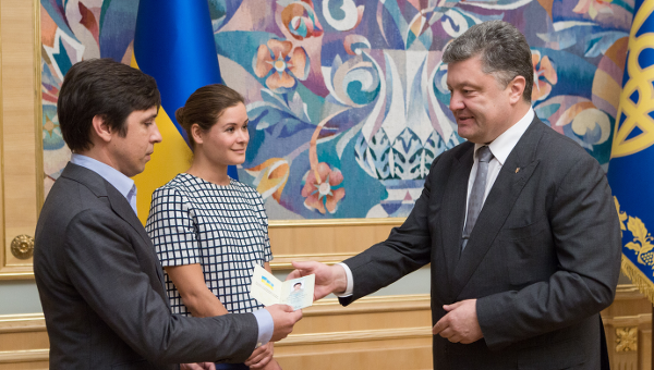 Петр Порошенко, Мария Гайдар и Владимир Федорин