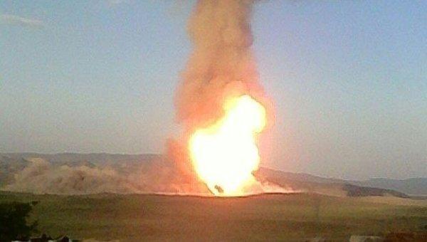 Взрыв на газопроводе Баку-Тбилиси-Эрзурум