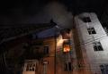 Пожар в исторической части Тернополя