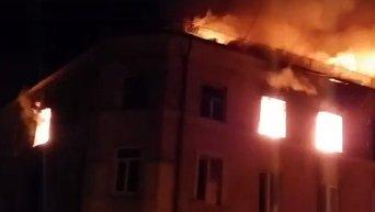 Пожар в историческом центре Тернополя