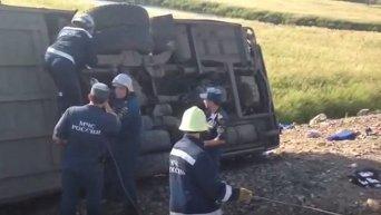 На месте аварии в Хабаровском крае РФ, где погибли 16 человек, 54 пострадали