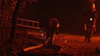 Пожар на одесском пляже Лузановка