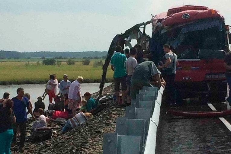 На трассе Комсомольск — Хабаровск разбились два пассажирских автобуса