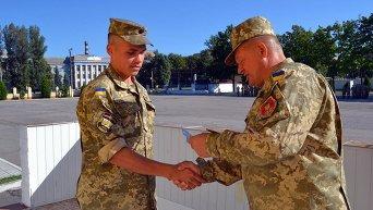 Обучение украинских танкистов