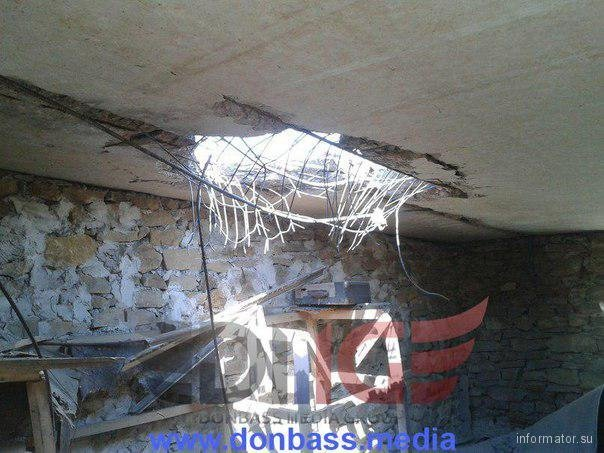 Разрушения в Горловке после обстрелов
