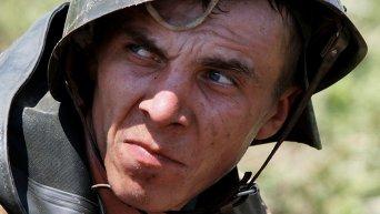 Военнослужащий  в ходе учений. Архивное фото