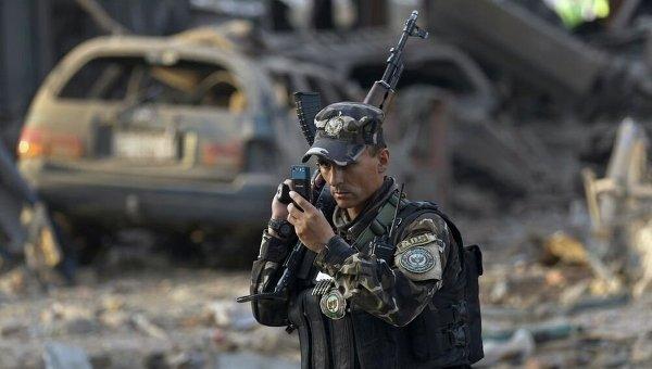 На месте взрыва в Афганистане. Архивное фото