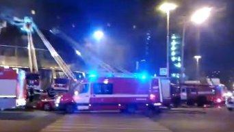 Пожар на Олимпийском проспекте в Москве. Видео
