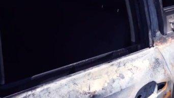 Сожженные машины ОБСЕ в Донецке