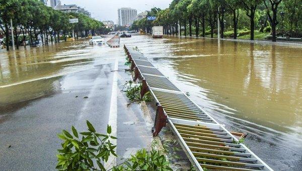 Тайфун Соуделор в китайской провинции Чжэцзян