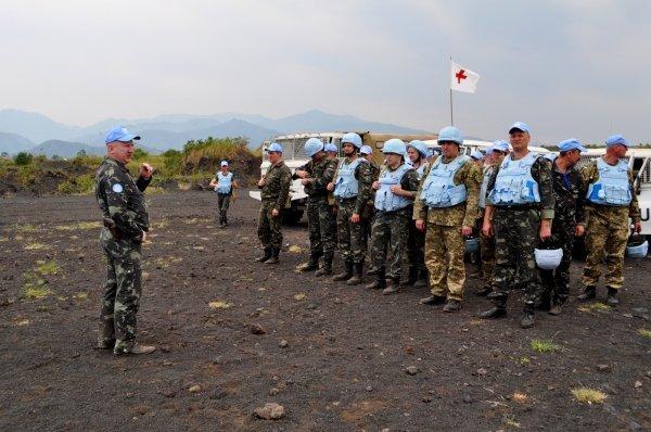 В Африке украинские миротворцы миссии ООН потренировались в стрельбе из штатного вооружения